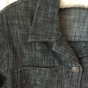 EUC Black Denim Chico's Shirt Jacket